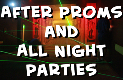 corporate outings, birthday parties, team building, fundraising, youthgroups, sports teams, after proms, all night parties, adult birthday parties, day cares , day camps, summer