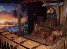 Shooting Gallery, Pirates, Treasure, Prizes, tokens
