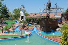 Golf Course, Mini golf, golf, pirates, theme, lighthouse, water, summer, sun